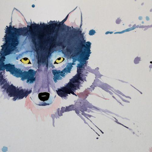 Wolf Watercolour